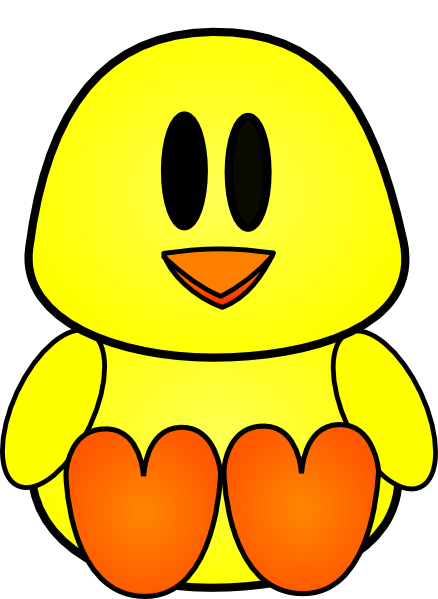 438x599 Baby Chick Clip Art