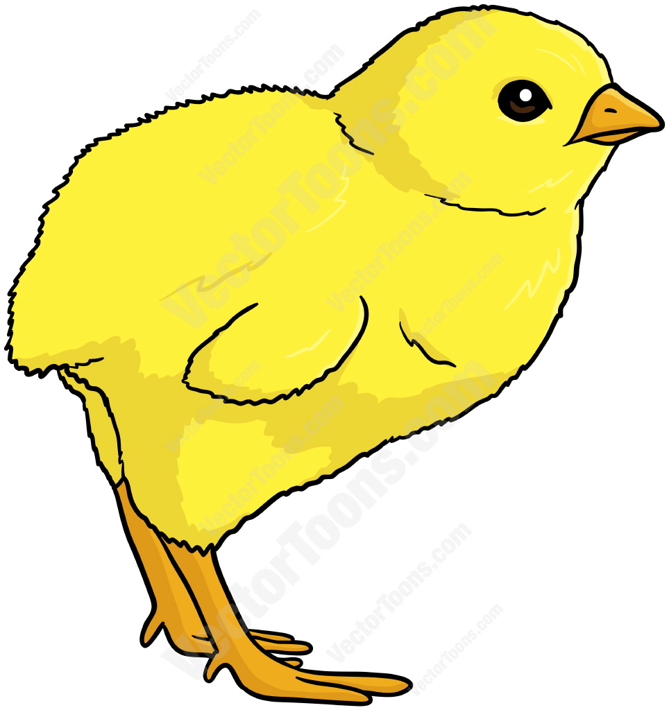 964x1024 Baby Chick Facing Left Cartoon Clipart