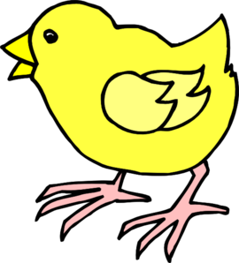 270x298 Cartoon Baby Chick Clip Art