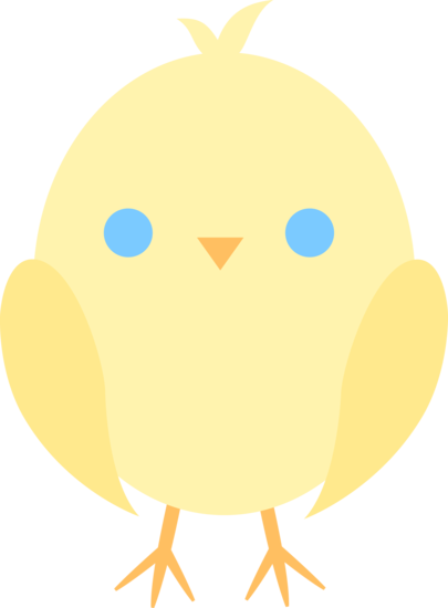 405x550 Cute Yellow Easter Chick