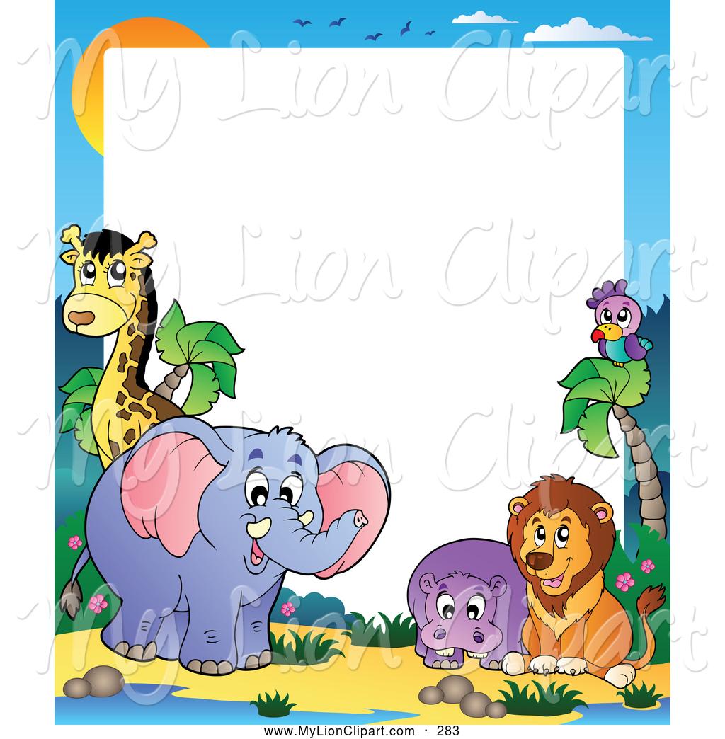 1024x1044 Animal Border Clipart