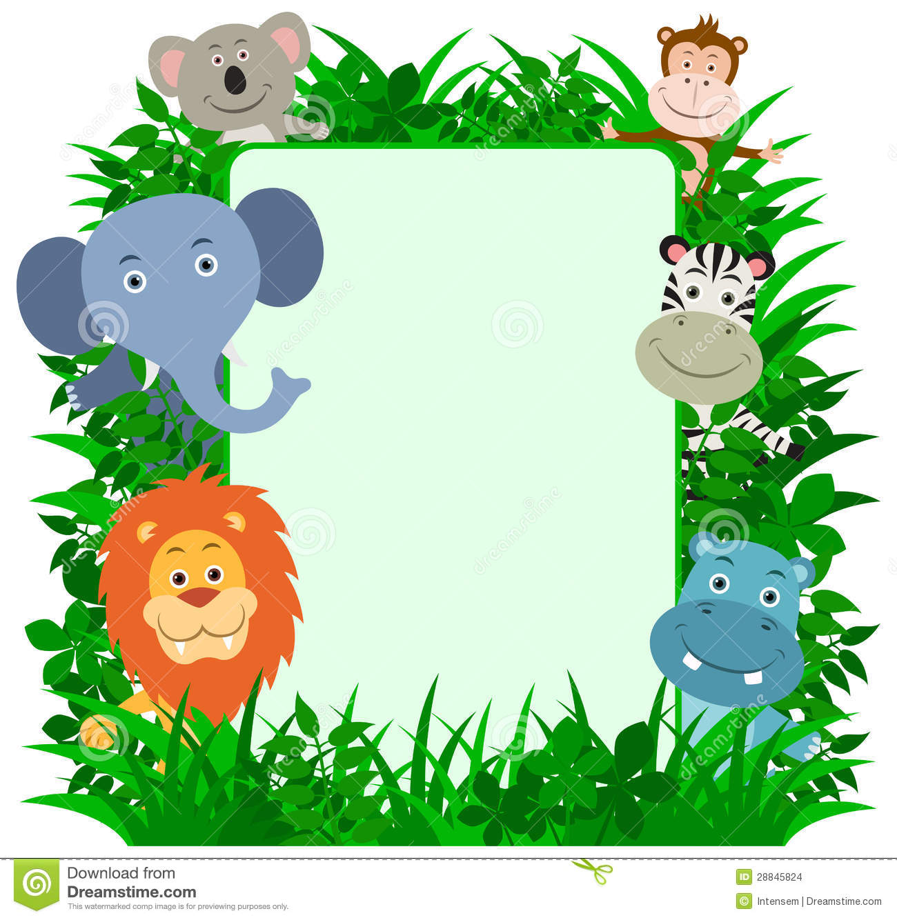 1300x1334 Baby Jungle Borders Clipart