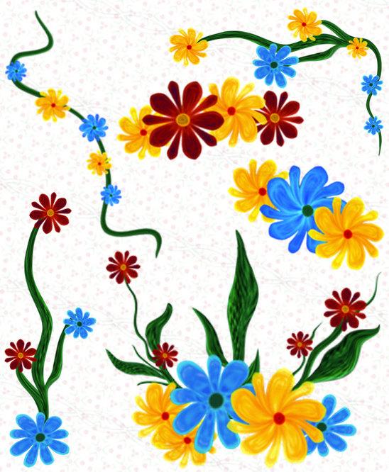 548x666 Instant Download 300dpi Png Floral Borders Frames Clip Art Lot