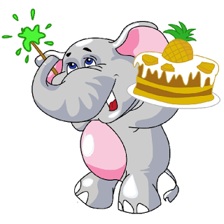 320x320 Baby Elephant Cute Birthday Cartoon Clip Art Images.all Images Are