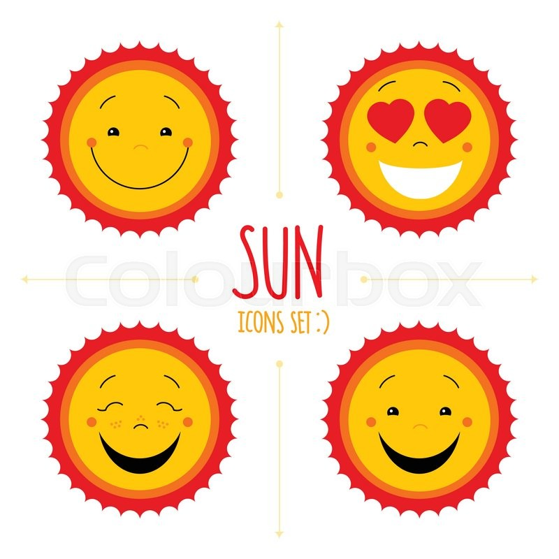 800x800 Baby Cute Vector Sun Icon Set. Cute Baby Smile Sun Logos
