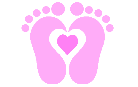 469x296 Baby Foot Prints Clipart
