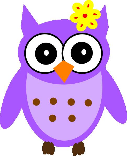 486x597 Purple Baby Girl Owl Clip Art