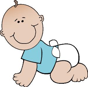 300x294 Baby Boy Crawling Clip Art