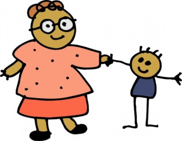 626x486 Clipart Of Boy And Mom