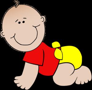 300x294 Red Baby Clip Art