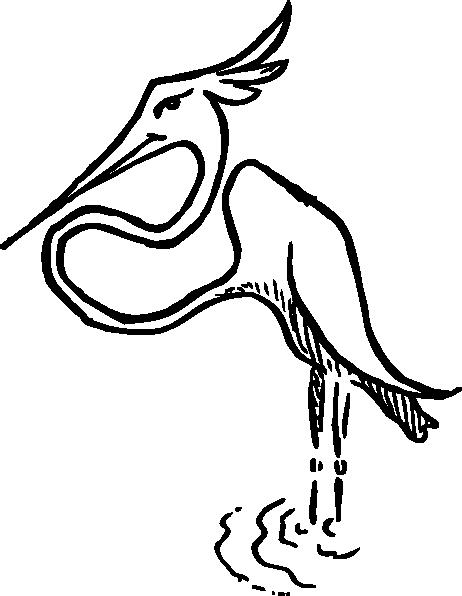 462x596 Stork Clip Art Free Vector 4vector