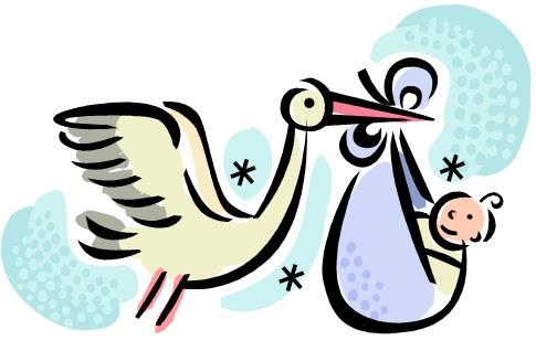 485x308 Stork Clipart Baby Shower