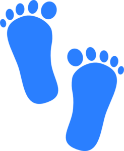 246x298 Baby Boy Footprints Clip Art