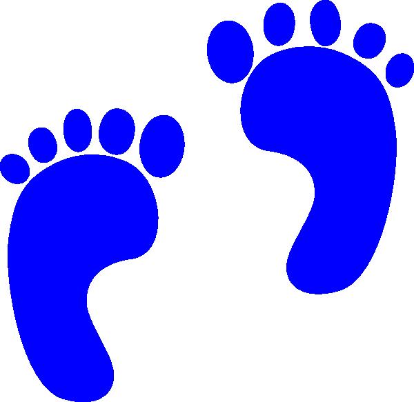 600x583 Blue Baby Feet Clipart