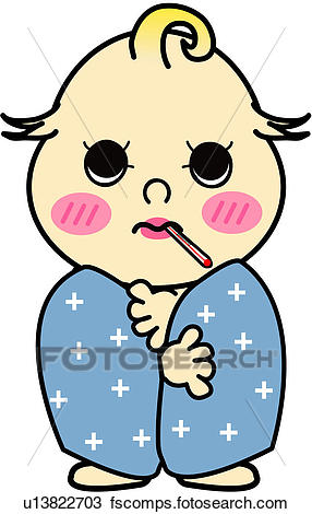 286x470 Clipart Of One Person, Sick, Person, People, Thermometer, Baby