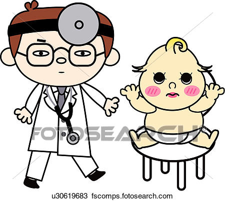 450x403 Clipart Of People, Treatment, Job, Baby, Doctor, Medical U30619683