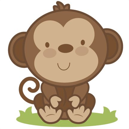 432x432 Cute Clipart Baby Monkey