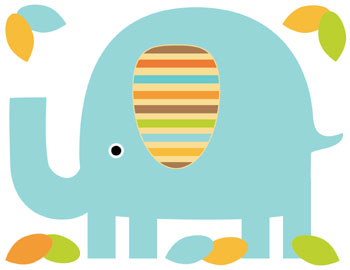 350x270 Elephant Clipart Wallpaper
