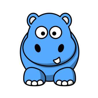 340x340 Simple Hippo Clip Art Baby Hippo Clip Art Clipart Best