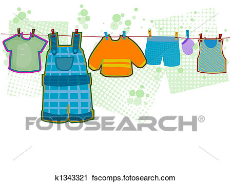 450x357 Clipart Of Baby Boy Clothes K1343321