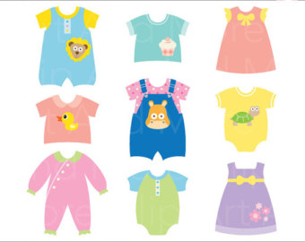 340x270 Baby Clothes Clipart