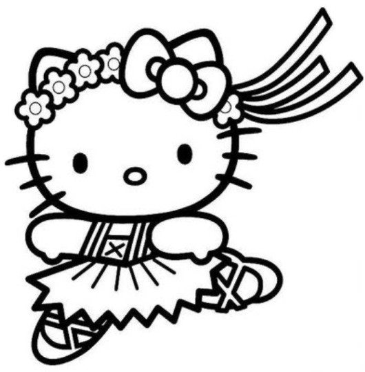 530x539 Cute Baby Hello Kitty Coloring Pages