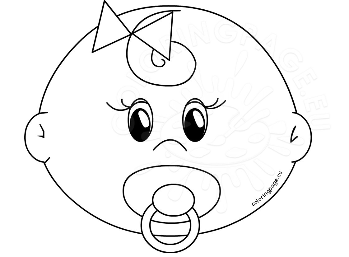 1122x826 Cute Girl Baby Faces Coloring Pages Printable Coloring Page