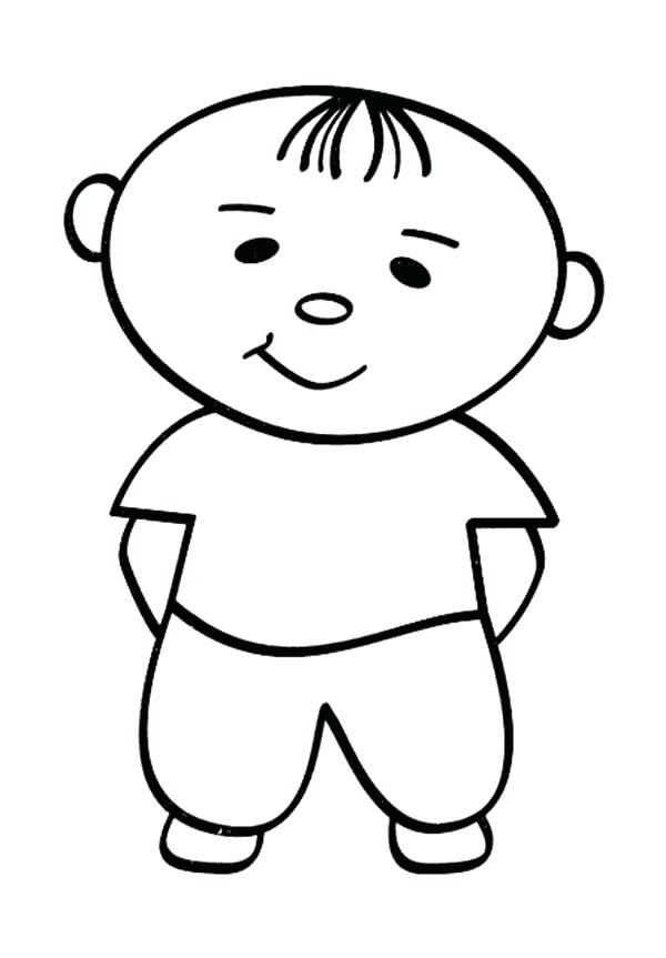 600x863 Little People Cute Baby Coloring Pages Batch
