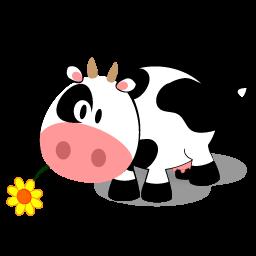 256x256 Cow Clipart Cute
