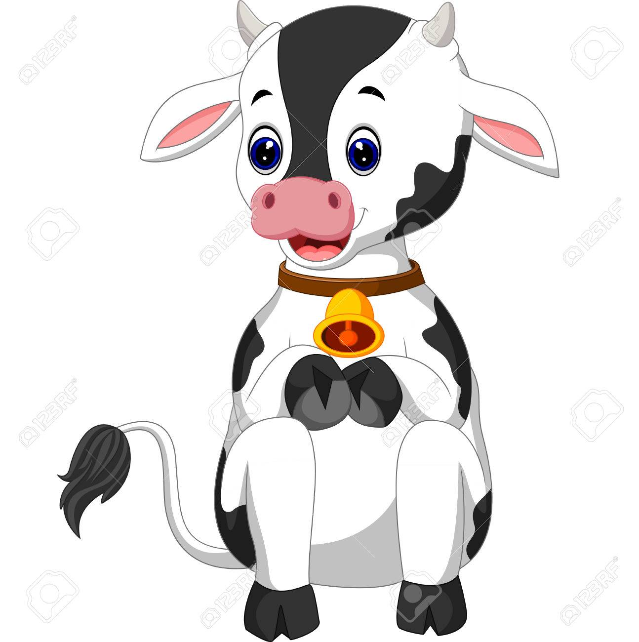 1294x1300 Cute Baby Cow Cartoon Stock Photo, Picture And Royalty Free Image