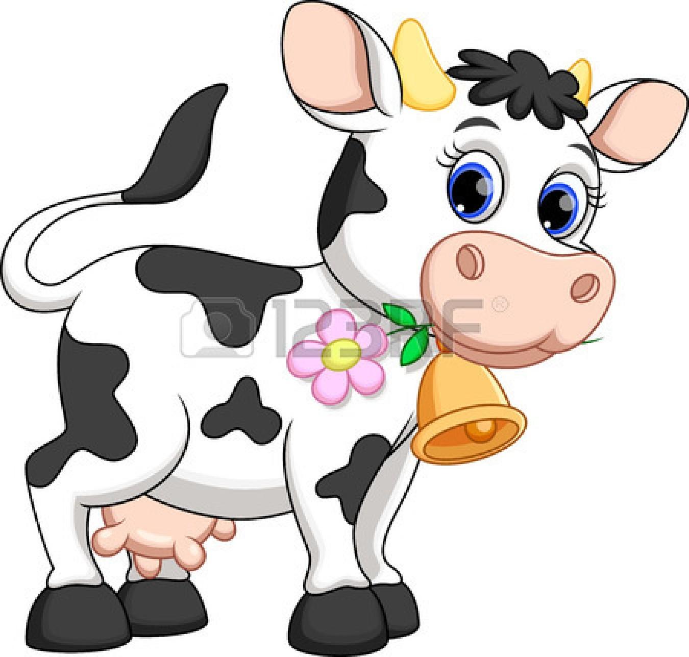 1350x1287 Cute Cow Cartoon Stock Vector