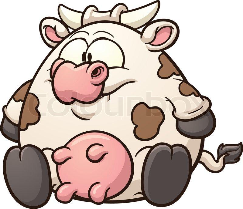 800x689 Fat Cow Clip Art. Vector Cartoon Illustration With Simple