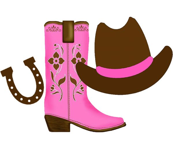600x512 Cowgirl Boots Clipart