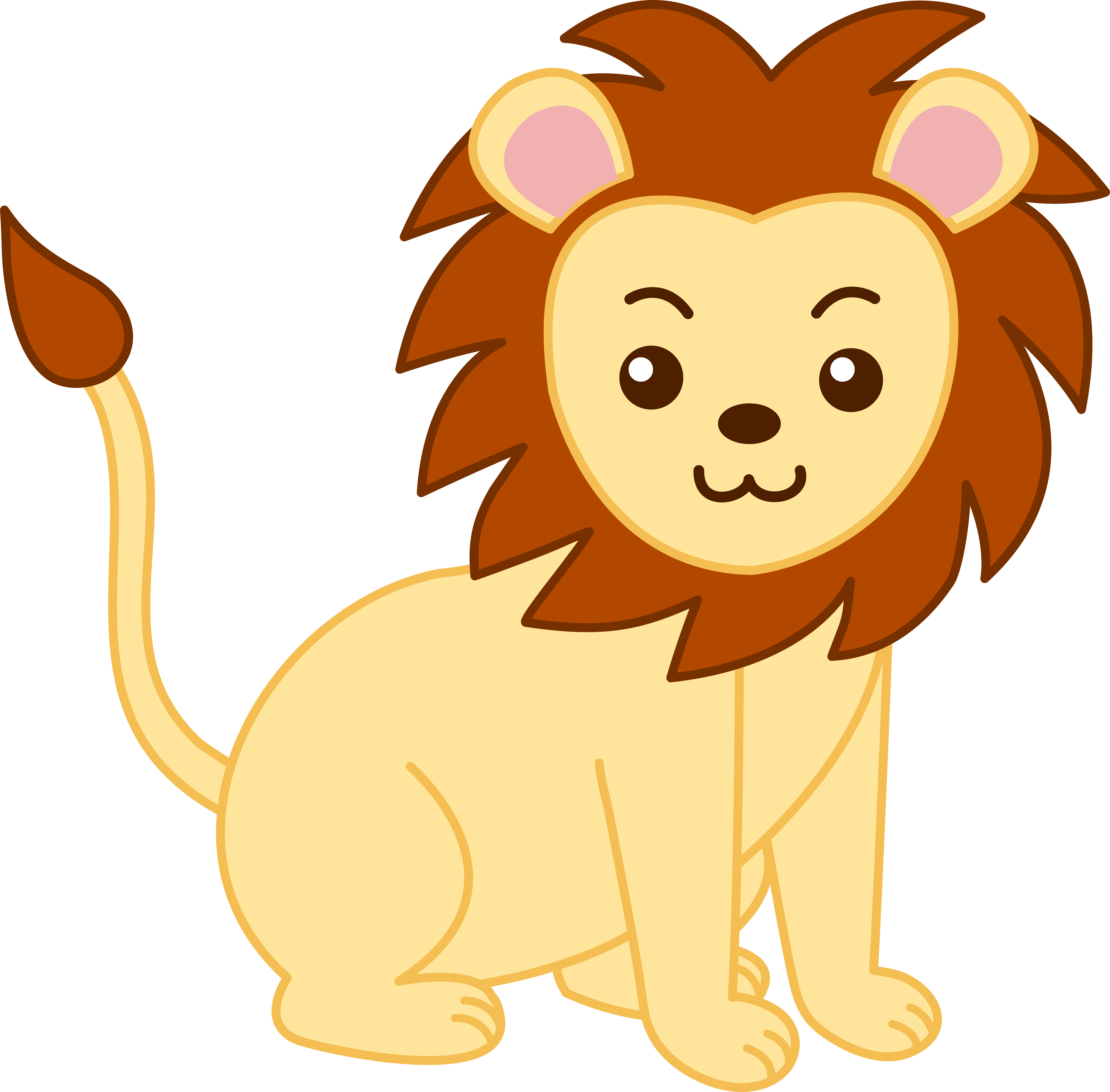 5171x5087 Baby Lion Clipart Free