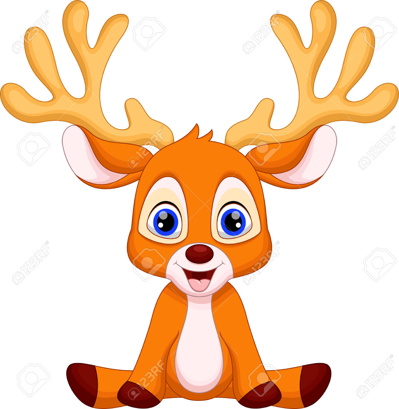 1270x1300 Deer Clipart Cartoon