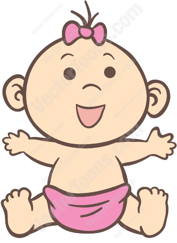 749x1024 Black Baby Girl Face Clipart