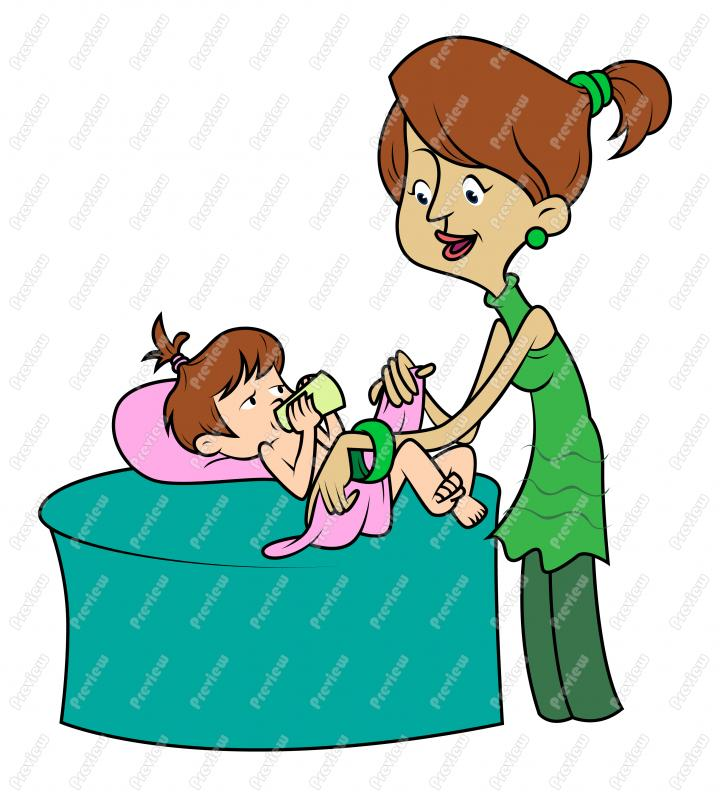 720x800 Mother Changing Baby Girl Clip Art