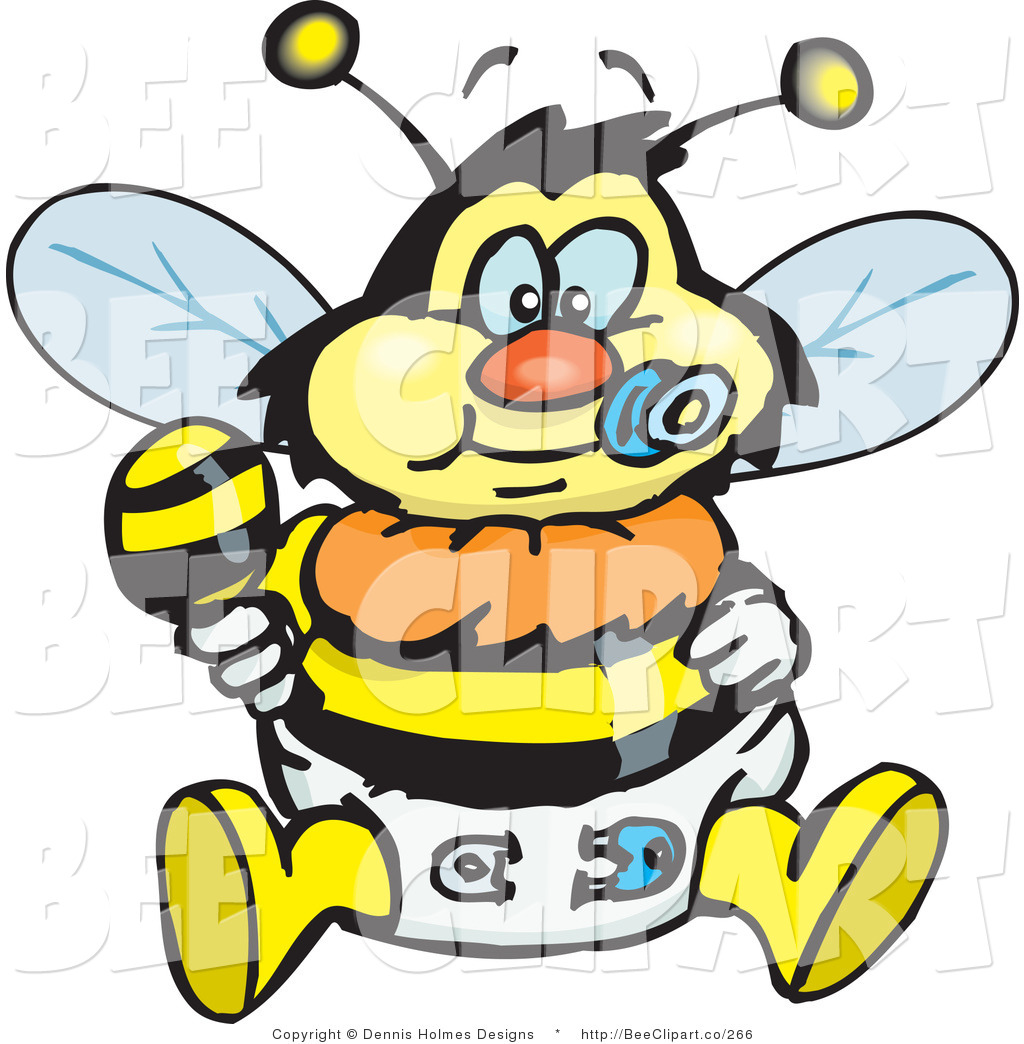 1024x1044 Vector Clip Art Of A Yellow And Black Baby Bumble Bee Character
