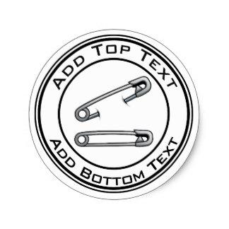 324x324 Diaper Pin Stickers Zazzle