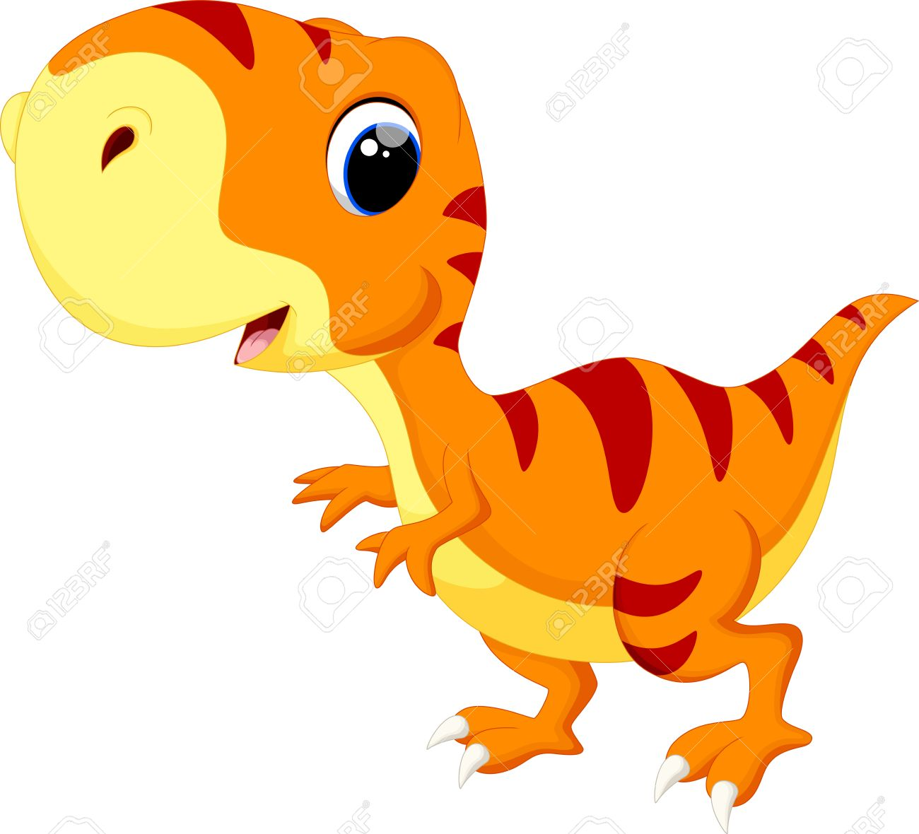1300x1180 Cute Baby Dinosaur Cartoon Royalty Free Cliparts, Vectors,