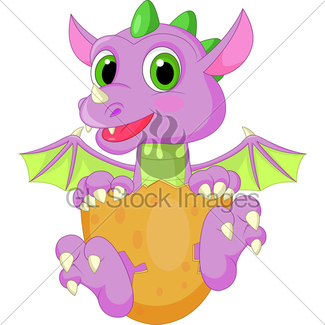 325x325 Cute Baby Dinosaur Cartoon Gl Stock Images