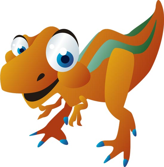 550x559 Baby Dinosaurs Cartoon Vector