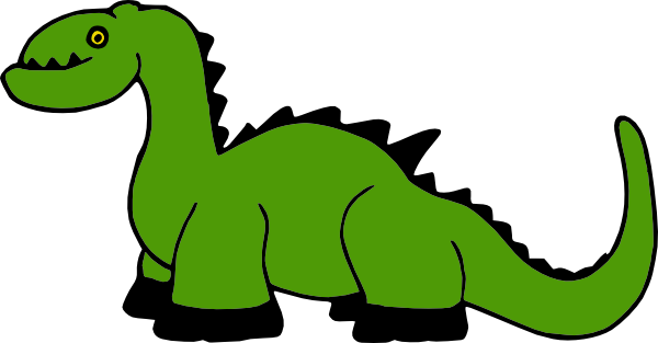 600x313 Dinosaur Cartoon Clip Art