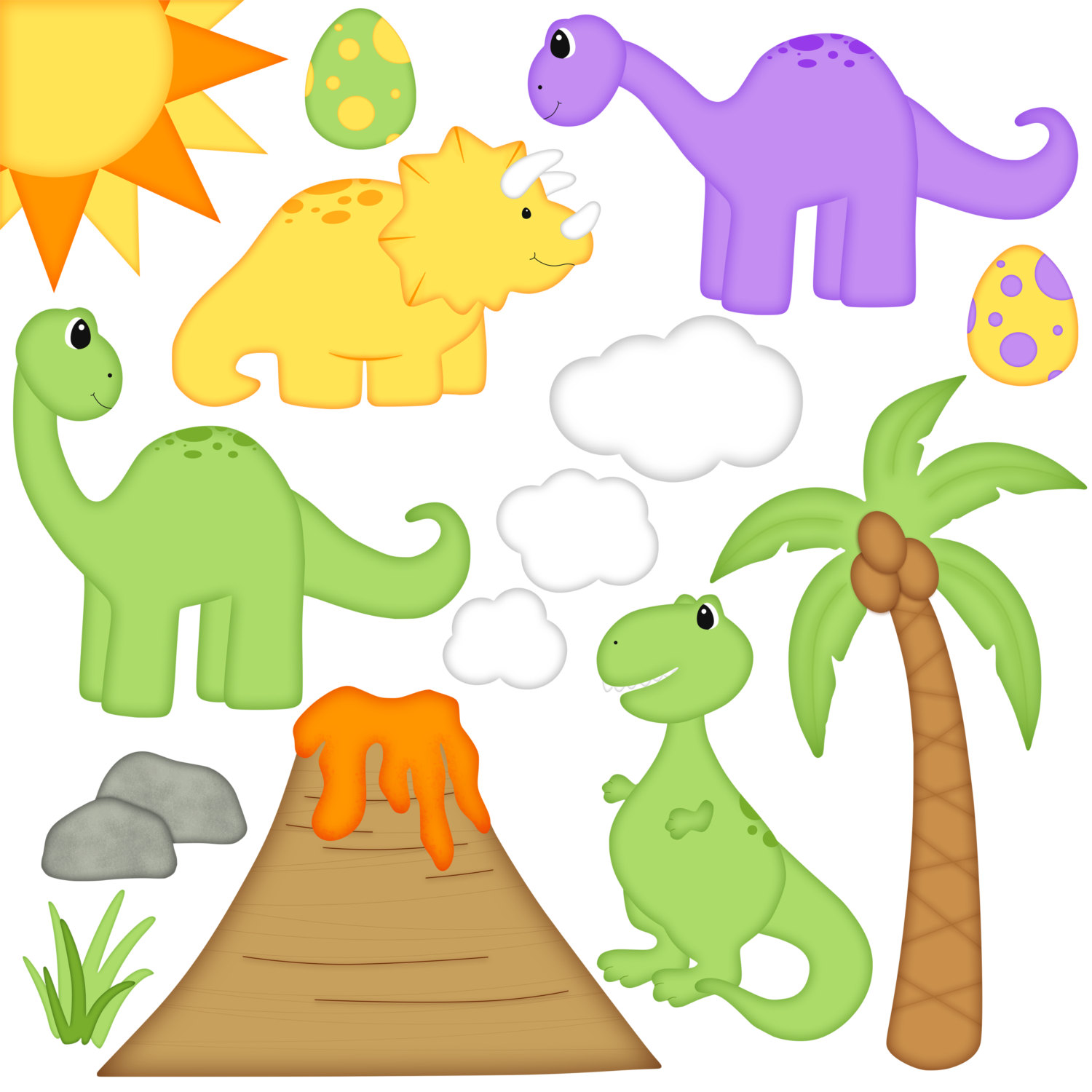 1500x1500 Dinosaur Digital Clip Art Set By A Scrap Of Time