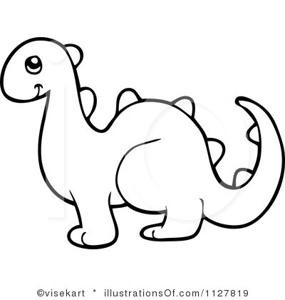 400x420 Clipart Outline Of Dinosaur