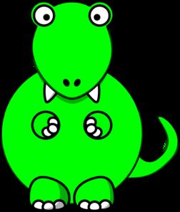 252x298 Lime Green Baby Dino Clip Art