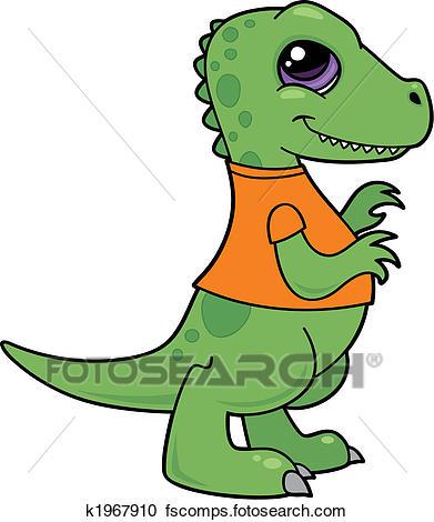 391x470 Clipart Of Tyrannosaurus Rex Baby K1967910