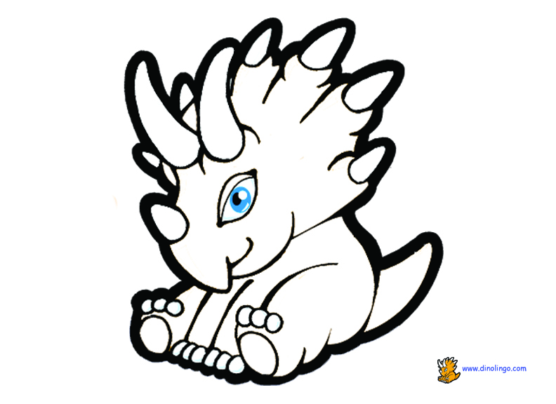 Baby Dinosaur Coloring Page Free Download Best Baby Dinosaur