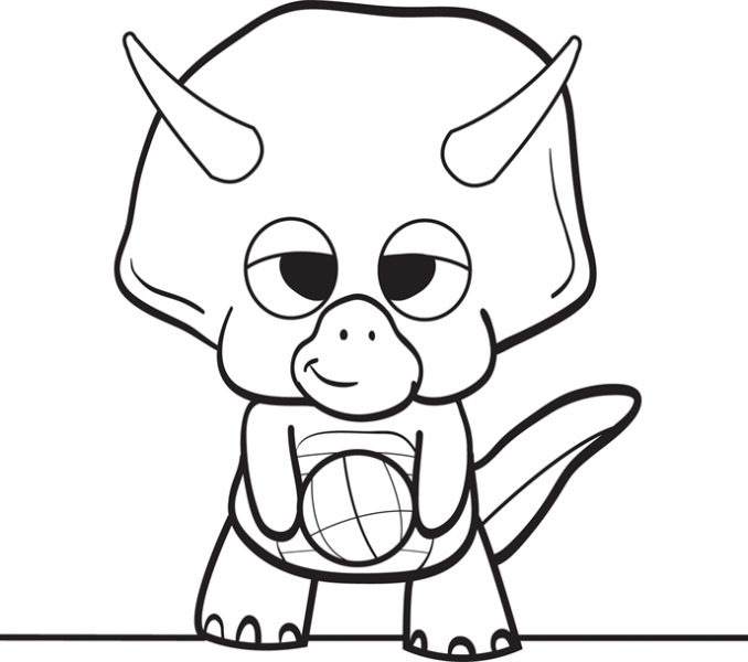 678x600 Baby Dinosaur Coloring Page Ba Dinosaur Coloring Pages Clipart