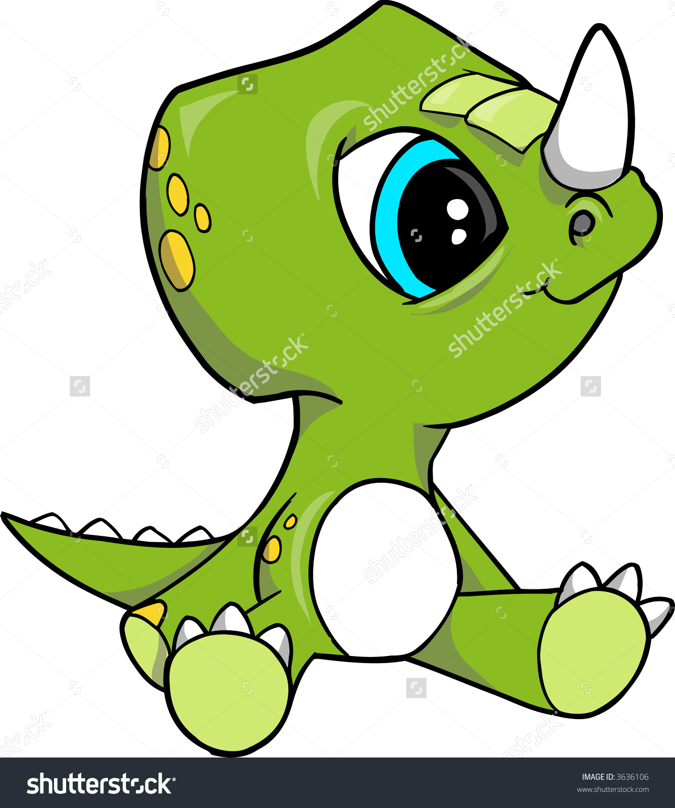 1337x1600 Baby Triceratops Dinosaur Vector Illustration